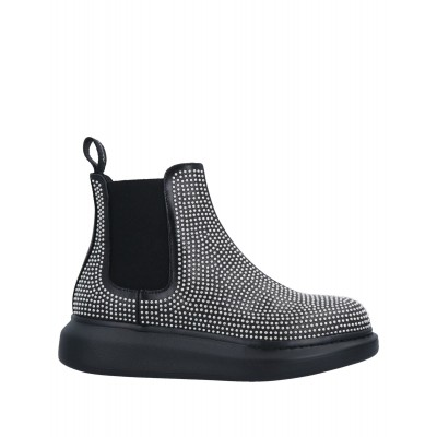 ALEXANDER MCQUEEN On Sale Designer - Girl's Ankle boots Soft Leather, Textile fibers 23L518682