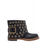 ALEXANDER MCQUEEN Hot Sale Trends 2021 - Womens Ankle boots Soft Leather Work PEROH4986