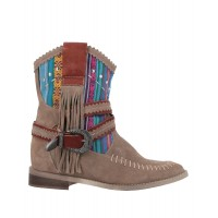 DIVINE FOLLIE Ships Free Near Me - Womens Ankle boots Soft Leather, Textile fibers JRNBD3618