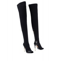 BALMAIN new in high quality - Womens Boots Textile fibers, Soft Leather PU9A01414
