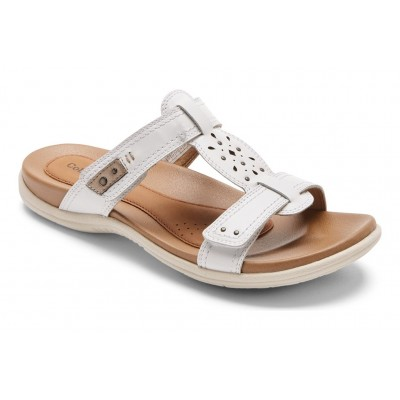 Rubey Perf Slide Cobb Hill Women Sandals - Mid heel Sandals White Collection ZHLW1744