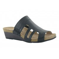 Carriage Naot Women Sandals - Mid Heel Sandals Soft Black Leather Hot MDKV8975
