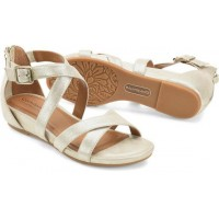 Melody Comfortiva Women Sandals - Mid Heel Sandals Platino For Wide Feet Fit DEMG8028