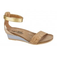 Pixie Naot Women Sandals - Mid Heel Sandals Gold Cork-Champagne For Walking LUMY3925