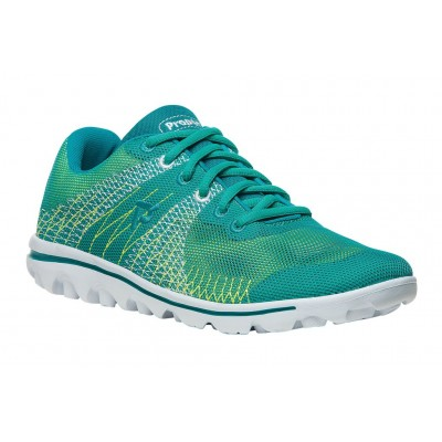 Travelactiv Knit Propet Women Athletic Shoes - Athletic Shoes New Green-Yellow Casual YZOA3901