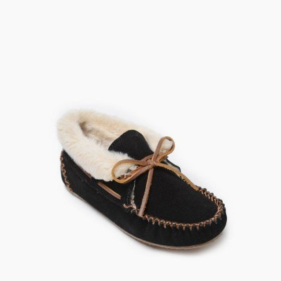 Chrissy Minnetonka Women Slippers - Casual Slippers Black That Dont Smell SNXD2285
