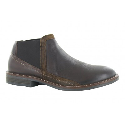 Business Naot Men Boots - Casual Boots Soft Brown Leather-Toffee Brown Leather-Seal Brown Suede Size 12 XHUW8847