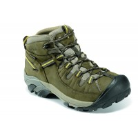 Targhee II Mid Keen Men Boots - Casual Boots Black Olive-Yellow Extra Wide Width Ships Free CXJR8333
